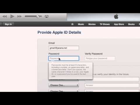 How to Create an Apple ID using  iTunes - latest version 2013