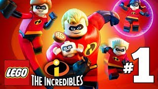 LEGO INCREDIBLES Gameplay Walkthrough Part 1 Undermined PS4