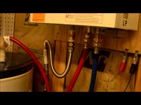 Eccotemp L10 tankless water heater instillation in off grid cabin