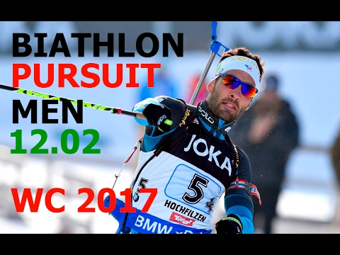 BIATHLON MEN PURSUIT 12.02.2017 World Championships Hochfilzen (Austria)