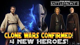 Star Wars Battlefront 2 Clone Wars Confirmed! Obi Wan, General Grievous, Anakin & Dooku Confirmed!