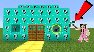 Minecraft: *CRAZY* BLUE LUCKY BLOCK HOUSE INVADERS!!! - Modded Mini-Game