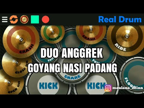 Goyang Nasi Padang - Duo Anggrek ( Real Drum Cover )