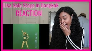 BLACKPINK Lisa 'Swalla' Solo Stage in Bangkok (Fancam)  REACTION