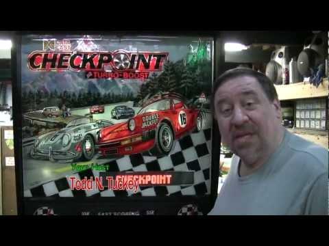 #158 Data East CHECKPOINT Pinball Machine-Neat MOD and also a little known secret! TNT Amusements