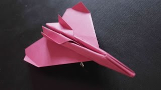 How to make a cool paper plane origami: instruction| Jet Fighter