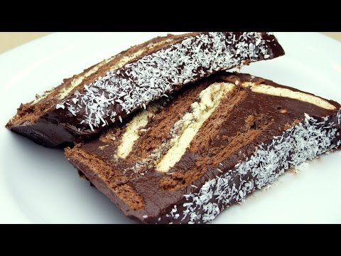 Торт без выпечки из печенья и какао рецепт - Шоколадный тортик