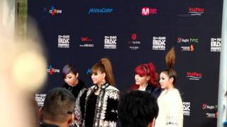 [FANCAM] 111129 MAMA red carpet - 2NE1 (3/3)