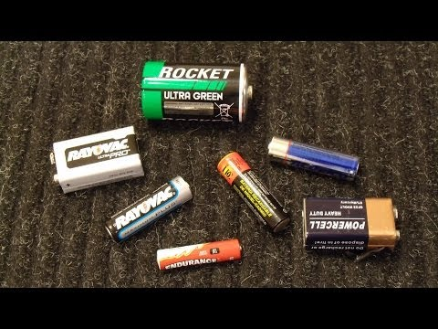 How To Test Standard AA, AAA, D, C, and 9V Batteries with a Multimeter
