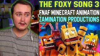 "The Foxy Song 3 ""Don't Forget"" Minecraft FNAF Animation Music Video  