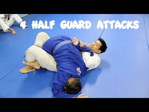 4 HALF GUARD ATTACKS: Triangle, Kimura, Ezekiel and Baseball Bat Choke Image 1