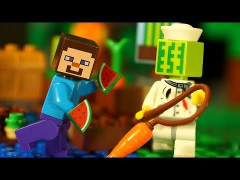 Майнкрафт ФЕРМА для ЛЕГО НУБика Мультики LEGO Minecraft - Видео Мультфильмы для Детей