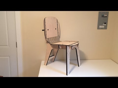 Laser Cut Chair with Living Hinges
