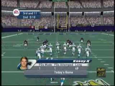 EA Sports Madden 2002 (X Box) Game Play