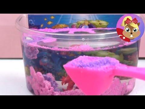 ISLANMAYAN KUM Aqua Sand Memaid Island- Magic Sand oyun hamuru gibi kum- Sihirli Kum!