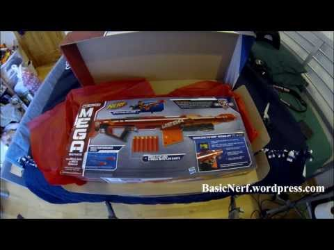 NERF MEGA CENTURION UNBOXING/ASSEMBLY/FIRING TEST