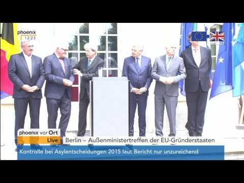 EU-Außenministertreffen der Gründerstaaten: PK mit u.a. Frank-Walter Steinmeier am 25.06.2016
