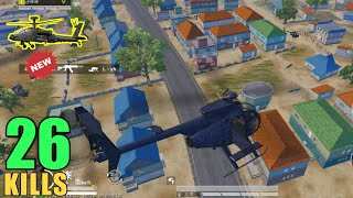 NEW FLYING HELICOPTER IN PUBG MOBILE | 26 KILLS SOLO VS SQUAD