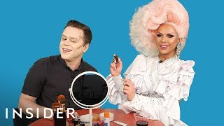 A Straight Man Tries Drag Makeup With RuPaul