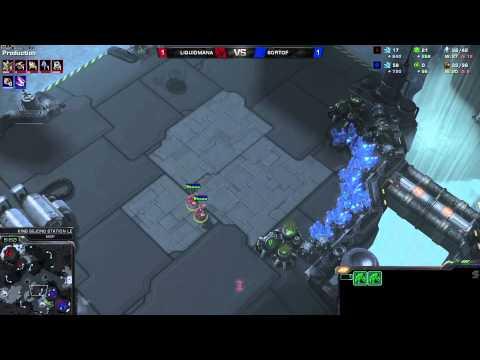 PvZ Mana vs SortOf- g3 - Starcraft 2 HD polski komentarz Heart of the Swarm