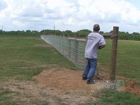 V Mesh Horse Fence Installation Part 1 Of 2 Youtube