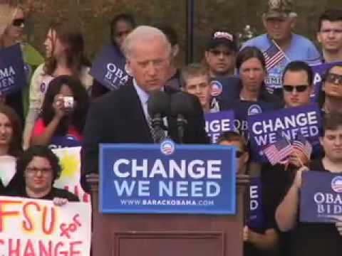 Joe Biden Rallies Tallahassee, Florida, November 2, 2008 Video