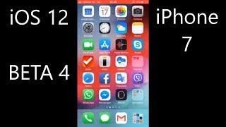 iOS 12 BETA 4 on iPhone 7 speed test