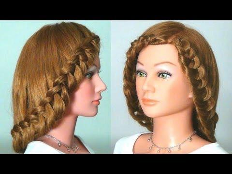 Красивая причёска своими руками на длинные волосы