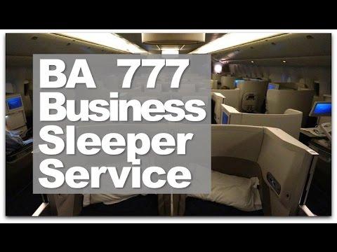 British Airways Business Class Sleeper Service   BA Club World 777 Business Class Flight Reviewed
