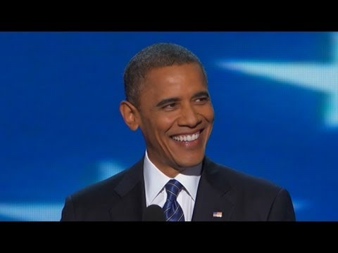President Barack Obama DNC Speech Complete: Romney in  Cold War Mind-Warp  - DNC 2012