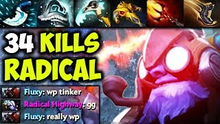 RadicaL [Tinker] - Almost 1vs9 Even His Enemy Knows He Is The Best | Epic GamePlay Dota 2