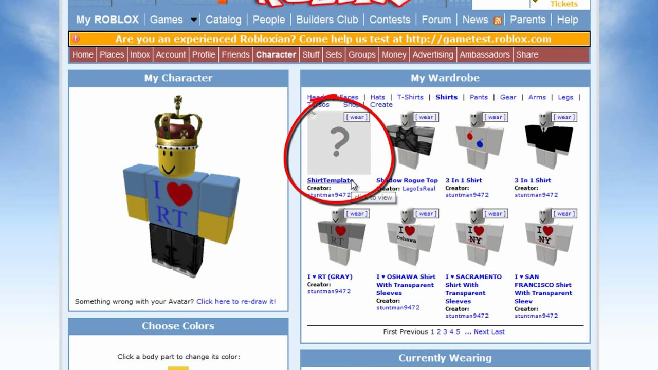 roblox tutorial   how to create shirts or pants without