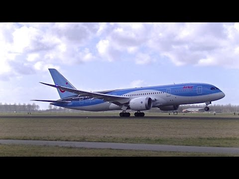 Arke B787-8 Dreamliner (PH-TFL) Landing and Take-off at Schiphol Intl. Airport