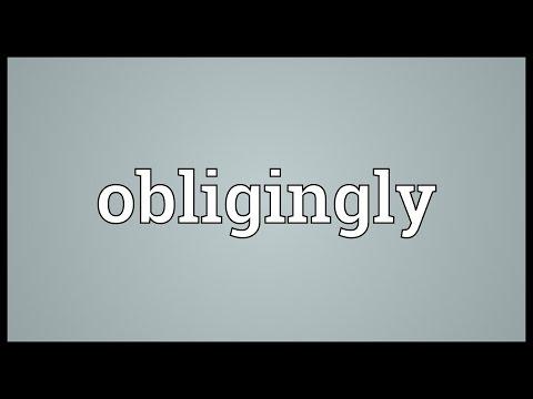Header of obligingly
