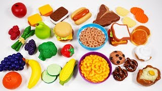 Playing with Play Food Playset for Kids | Yippee Toys