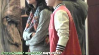 Selena Gomez & Justin Bieber  Weekend Sushi/Movie Date 25 feb!