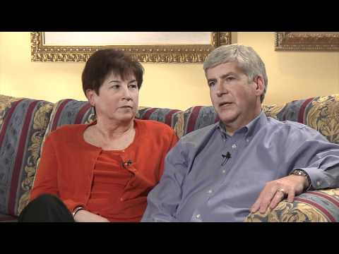 Michigan Governor Rick Snyder and Sue Snyder interview