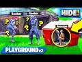 THE GOD HIDING SPOT in Fortnite Battle Royale! HIDE & SEEK Custom Gamemode!