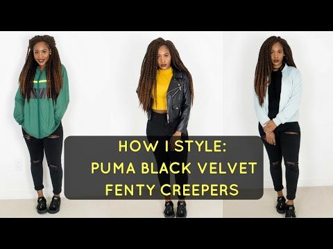 HOW I STYLE: PUMA BLACK VELVET FENTY CREEPERS   StylebyEmmanuela
