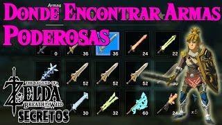 Secretos y Trucos de Zelda Breath of the Wild #32 | Donde conseguir Armas Poderosas facilmente