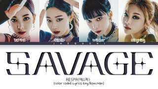 Download lagu aespa Savage Lyrics (에스파 Savage 가사) (Color Coded Lyrics)