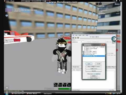 Using cheat engine roblox