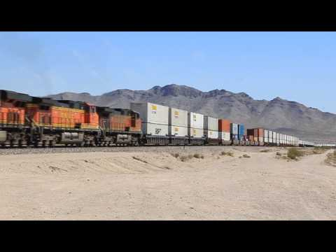 BNSF Needles Sub: Meets, CP, CSX, KCS, and NS Power