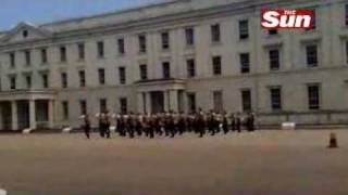Coldstream Guards play Thriller At Buckingham Palace