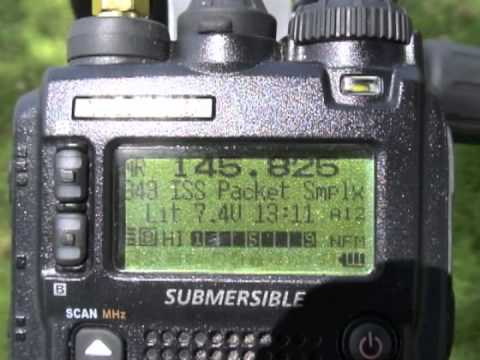 ISS APRS Contact with a Yaesu VX-8R WB5BSA