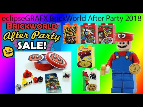 eclipseGRAFX BrickWorld After Party 2018 Loot