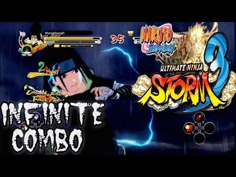 Naruto Ultimate Ninja Storm 3: Infinite Combo | PTS Sasuke