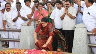 ஜெயலலிதா சமாதியில் சசிகலா சபதம்