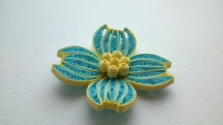 Quilling Flowers Tutorial  How to make Beautiful Quilling Flower design-Paper Art Quilling.
