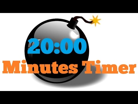20 minutes  Countdown Timer Alarm Clock